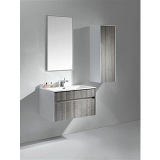 KubeBath Fitto 32-inch Ash Grey Single Sink Bathroom Vanity
