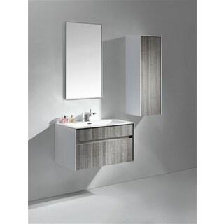 KubeBath Fitto 32-inch Ash Grey Single Sink Bathroom Vanity