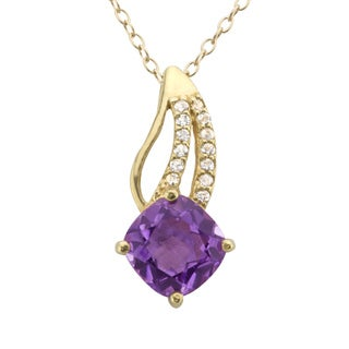 Haven Park Genuine Amethyst Pendant
