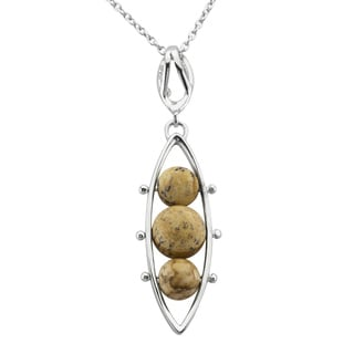 Haven Park Jasper Pea Pod Necklace Pendant
