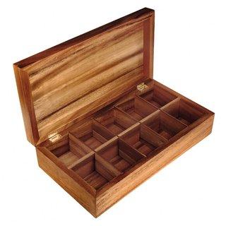 Natural Acacia Wood Tea Box