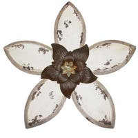 Copper Grove Delta Decor Antique Flower Wall Decor