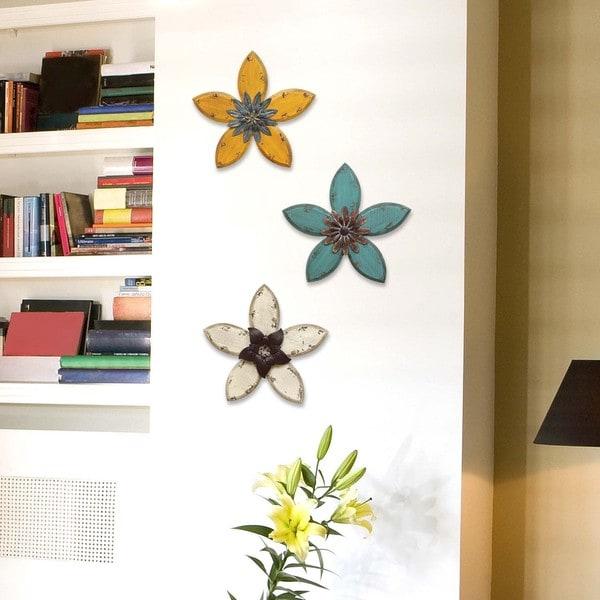 Stratton Home Decor Antique Flower Wall Decor Free
