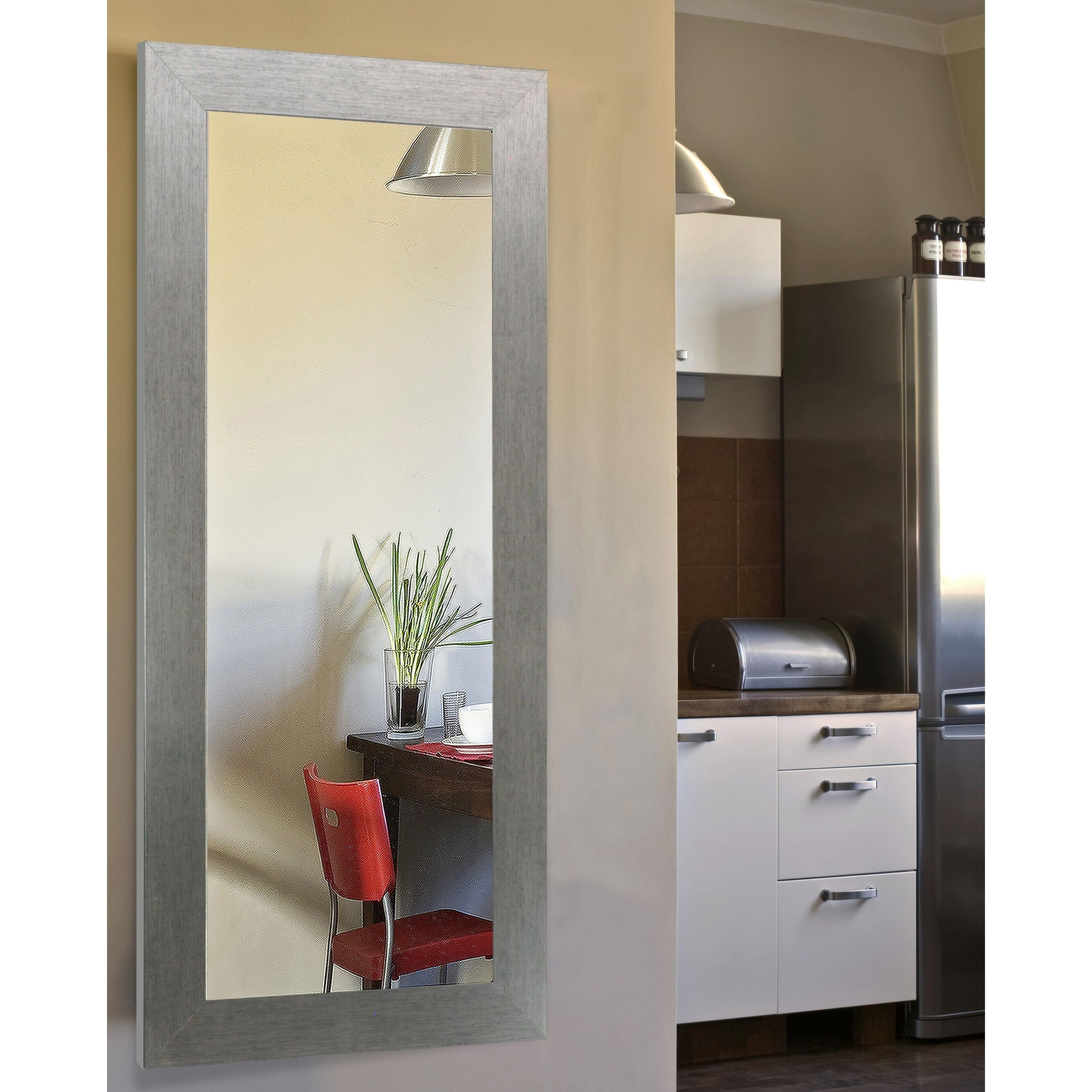 American Made Rayne Yukon Silver Full Body Vanity Wall Mirror Overstock 11960607