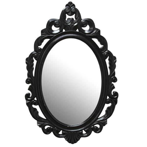 Stratton Home Decor Baroque Wall Mirror : Stratton home decor black baroque mirror free shipping
