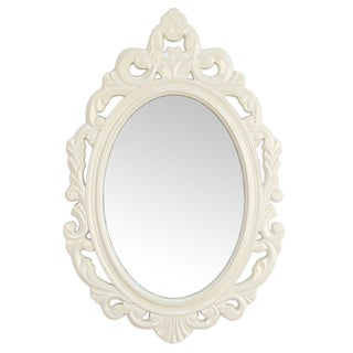 Stratton Home Decor Baroque White Wall Mirror