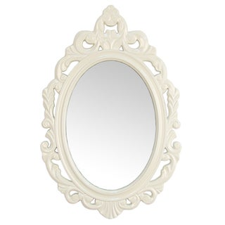 The Curated Nomad Hokona Baroque White Wall Mirror