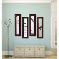 American Made Dark Mahogany Panel Mirror - Dark Mahogany
