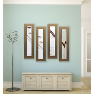 American Made Golden Lowe Panel Mirrors - Gold