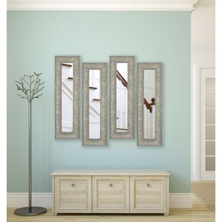 American Made Maclaren Pewter Panel Mirrors