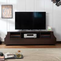 Furniture of America Basa Contemporary 70-inch Walnut TV Stand