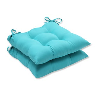 Pillow Perfect Outdoor / Indoor Splash Maui Wrought Iron Seat Cushion (Set of 2)