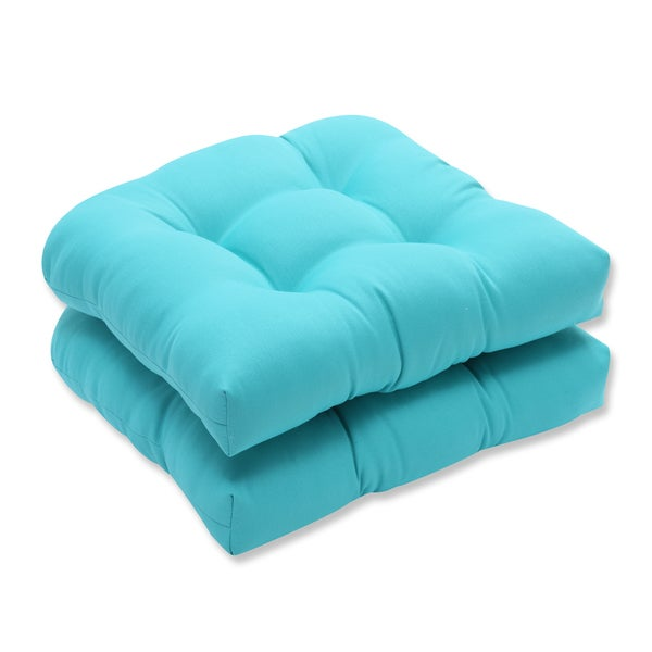 shop pillow perfect outdoor indoor splash maui wicker seat cushion set of 2 free shipping. Black Bedroom Furniture Sets. Home Design Ideas