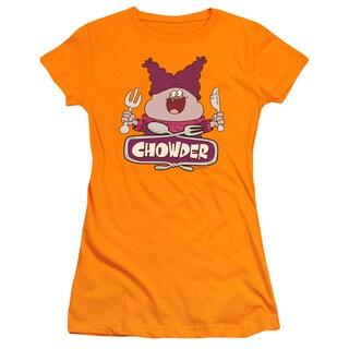 Chowder/Logo Junior Sheer in Orange
