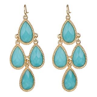 Turquoise Pear Drop Chandelier Earrings