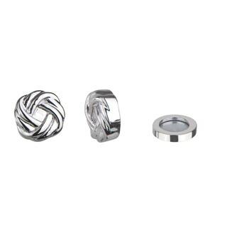 Silver Love Knot Magnetic Earrings