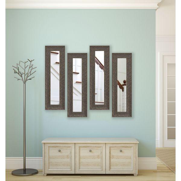 American Made Maclaren Brown Panel Mirrors - Brown/Gold
