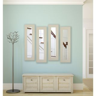 American Made Rayne Arctic Ivory Panel Mirrors