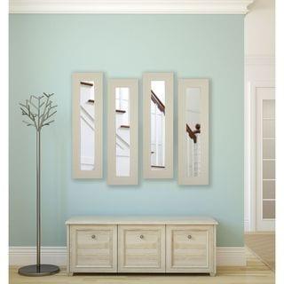 Rayne Arctic Ivory Panel Mirrors