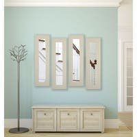 American Made Arctic Ivory Panel Mirrors