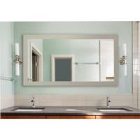 American Made Extra Large Arctic Ivory Vanity Wall Mirror - White