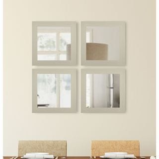 American Made Rayne Arctic Ivory Square Mirror Sets