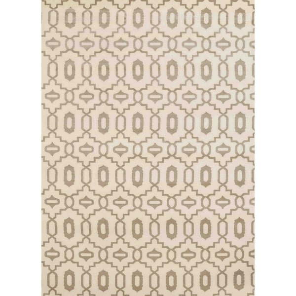 Admire Home Living Bronte Orb Ivory Olefin Area Rug (7'10 x 10'6) - 7'10 x 10'6