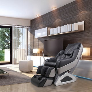 Dynamic 7800S Manhattan Black Synthetic Leather and Metal Zero-gravity Massage Chair With Neck to Lower Back 3D Rollers