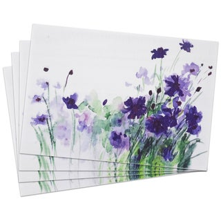 'Wild Flower' Woven Placemat Set (Pack of 4)