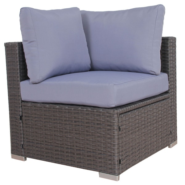 Awesome BroyerK Blue/Grey Rattan 10 Piece Patio Furniture Set   Free Shipping Today    Overstock.com   18846658