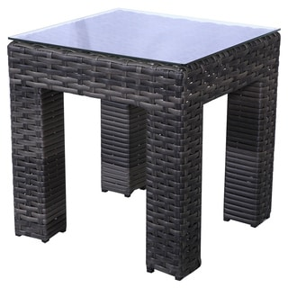 Buy Grey Wicker Outdoor Coffee Side Tables Online At Overstock - Gray wicker coffee table