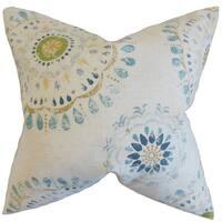 Hali Geometric Throw Pillow Cover Rain