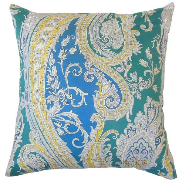Efharis Paisley Throw Pillow Cover Calypso