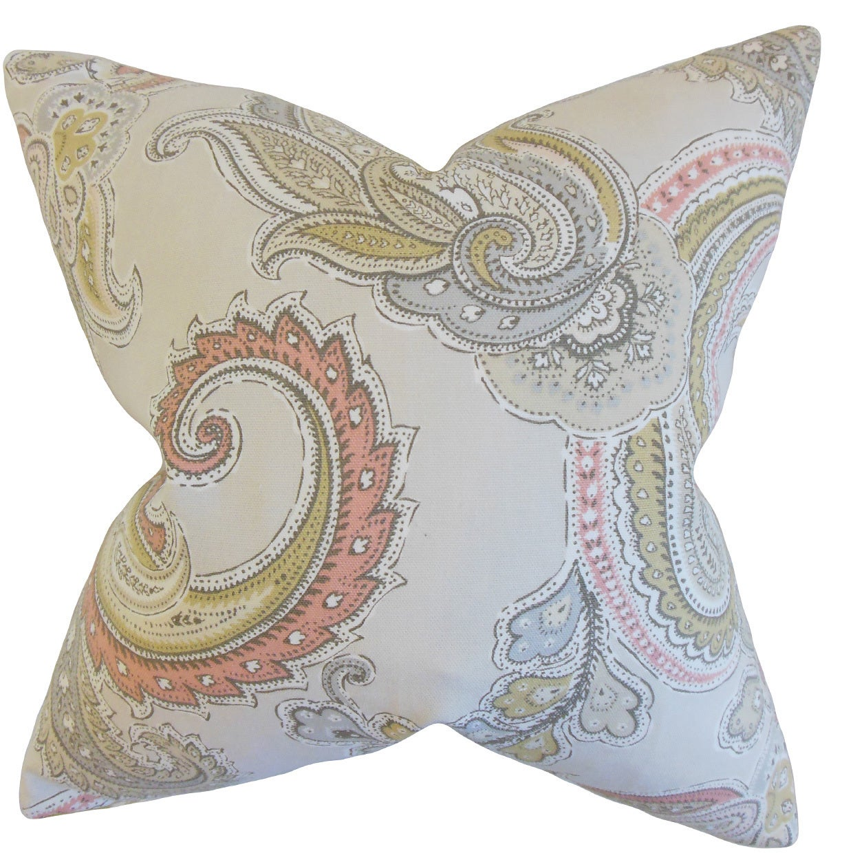 Shop Black Friday Deals On Kalani Paisley Throw Pillow Cover Clush Overstock 11961704