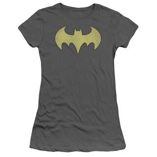 DC/Batgirl Logo Distressed Junior Sheer in Charcoal