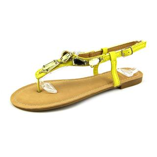 Anna Women's Vita-7 Yellow Synthetic Sling-back Sandals