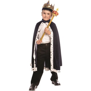 Dress Up America Boy's Blue and Red King Robe Costume Set