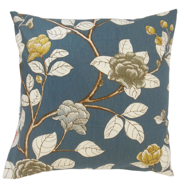 Pallavi Floral Throw Pillow Cover