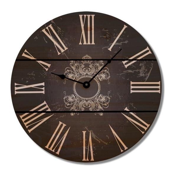 Parisian Black Cedar Clock
