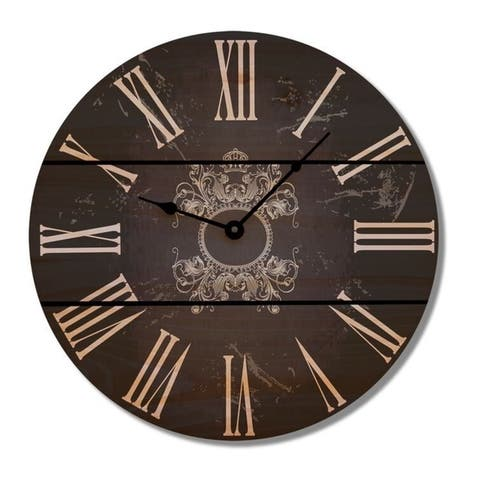 Parisian Black Wood Clock - Indoor and Outdoor Clock
