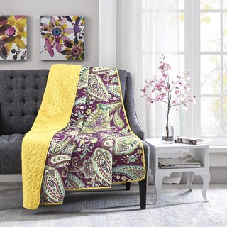Intelligent Design Melissa Purple Oversized Quilted Throw