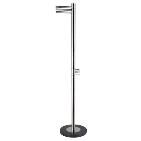 Cortesi Home Finna Stainless Steel Brushed Nickel Coat Rack
