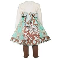 AnnLoren Girl's Cotton Lace Gathered Dress