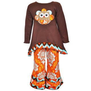 AnnLoren Girl's Thanksgiving Owl Short and Pant Set|https://ak1.ostkcdn.com/images/products/11961991/P18847138.jpg?impolicy=medium