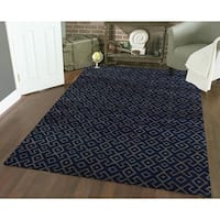 Admire Home Living Bronte Aztec Navy-blue Olefin Area Rug (7'10 x 10'6)