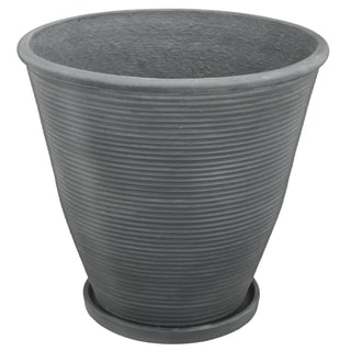 Ridgmont Grey Cement 14-inch x 13-inch Small Planter