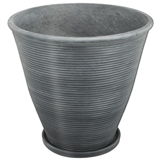 Ridgmont Grey Cement 17-inch x 16-inch Medium Planter