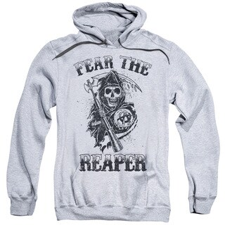 Sons Of Anarchy/Fear The Reaper Adult Pull-Over Hoodie in Athletic Heather
