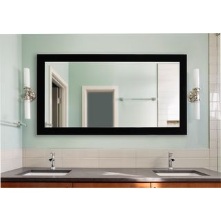 American Made Rayne Extra Large Delta Black Vanity Wall Mirror