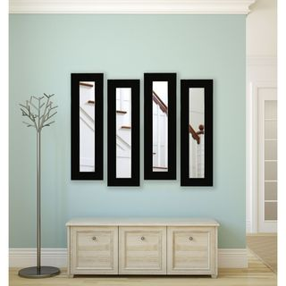 Rayne Delta Black Panel Mirrors